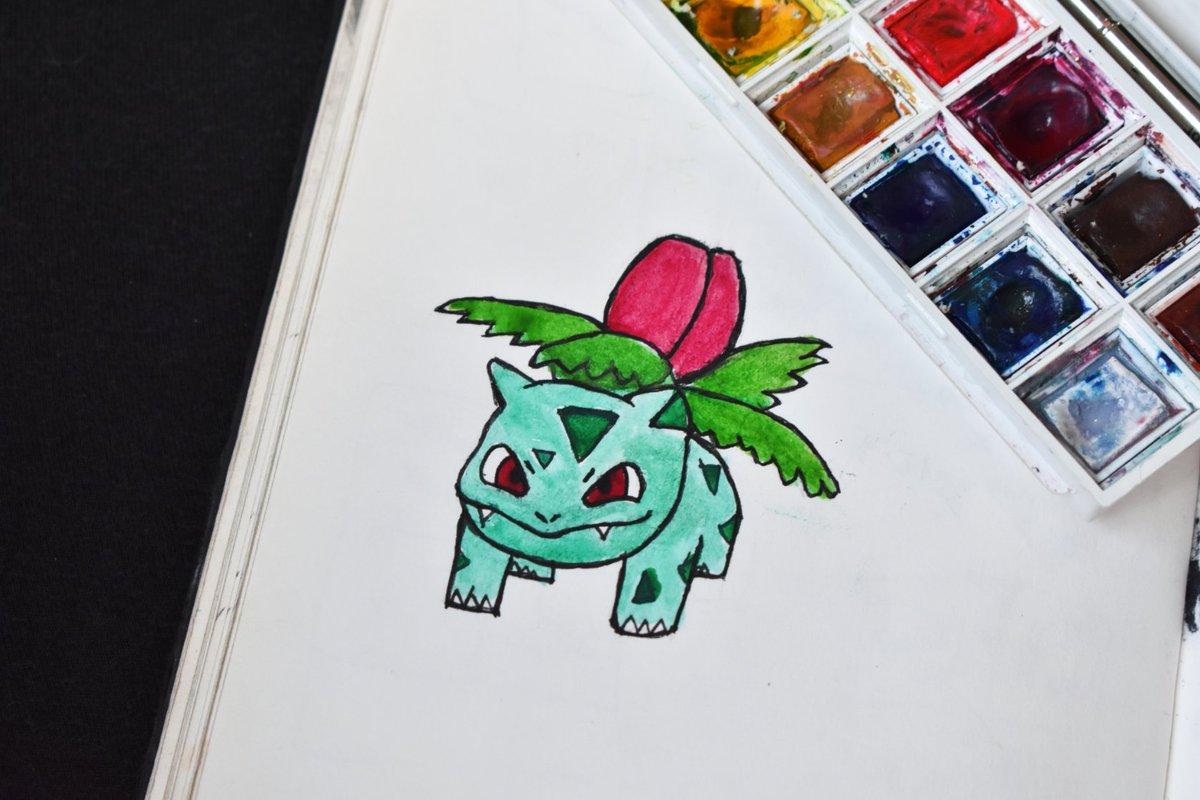 Little Ivysaur  . #watercolor #ivysaur #pokemondrawing #watercolordrawing #pokemonpic.twitter.com/076n9EhZxl
