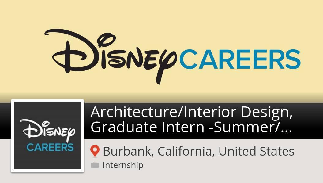 Marcie Lemke On Twitter Architecture Interior Design Graduate Intern Summer Fall 2020 Internship Wanted In Burbank Disney Disneyjobs Https T Co Deso8j0h0x Https T Co Bqkn4dpncf