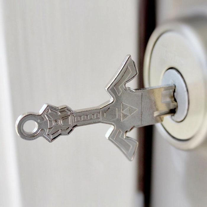 家の鍵をゼルダの伝説っぽくした結果?めっちゃかっこいいwww