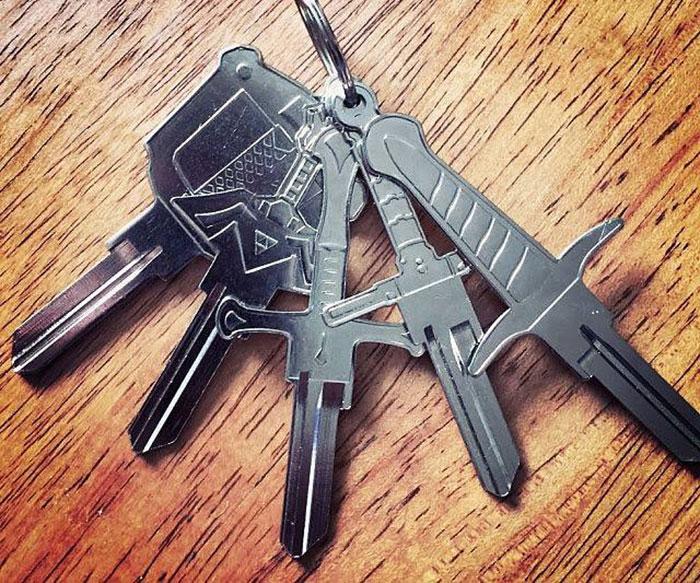 家の鍵をゼルダの伝説っぽくした結果?めっちゃかっこいい!