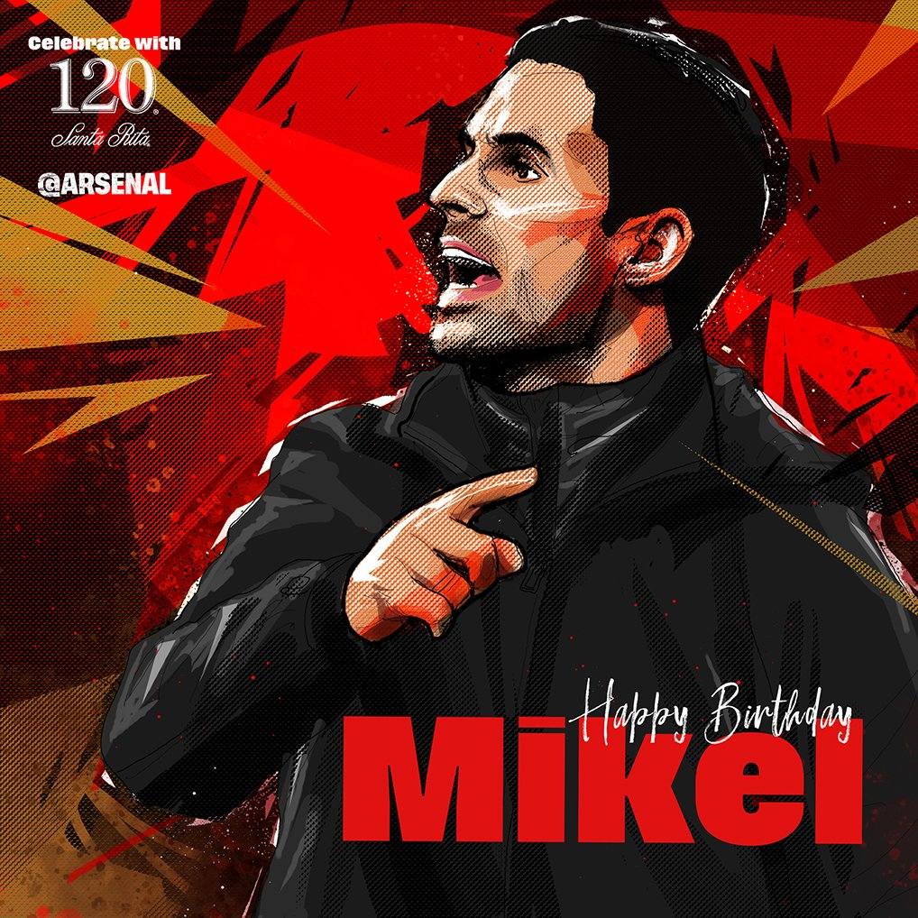 Happy birthday, boss! 🎈 🎂 @m8arteta