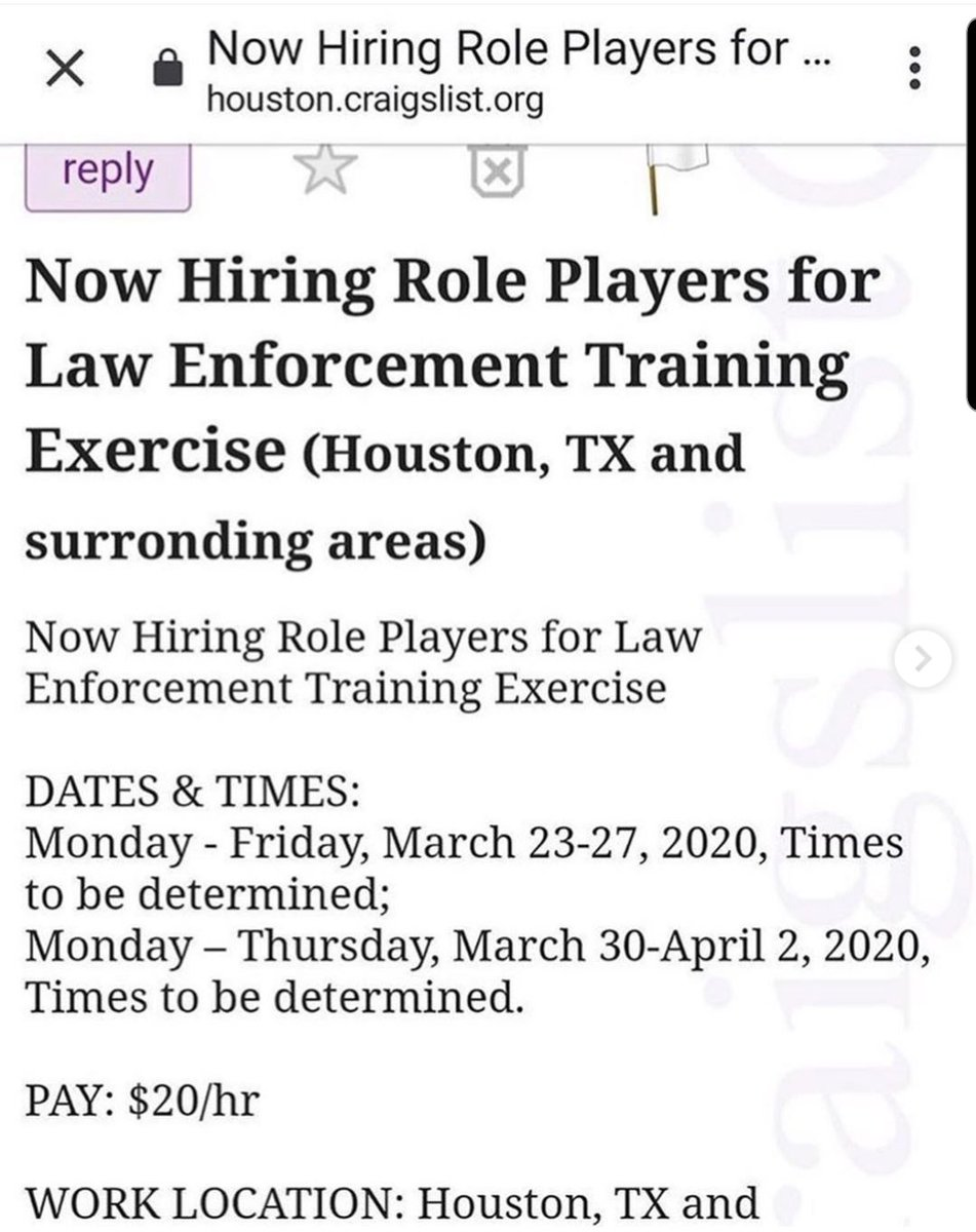 Attention #Houston Texas This seems to be the makings of a #FalseFlag event!!!! pic.twitter.com/gvxOR1keXs