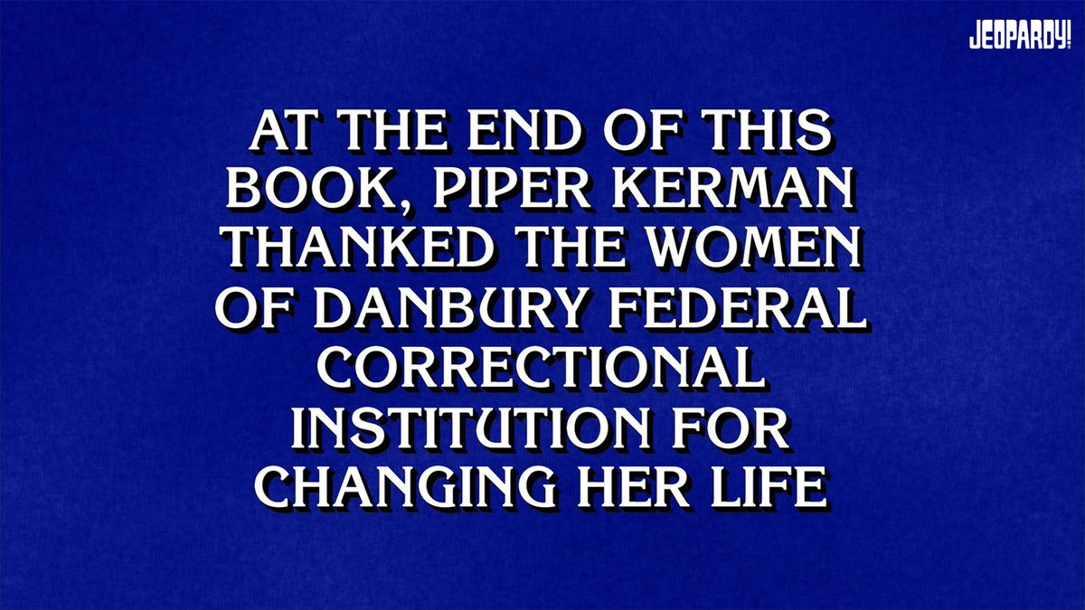 The story that started it all. @Piper #OITNB
