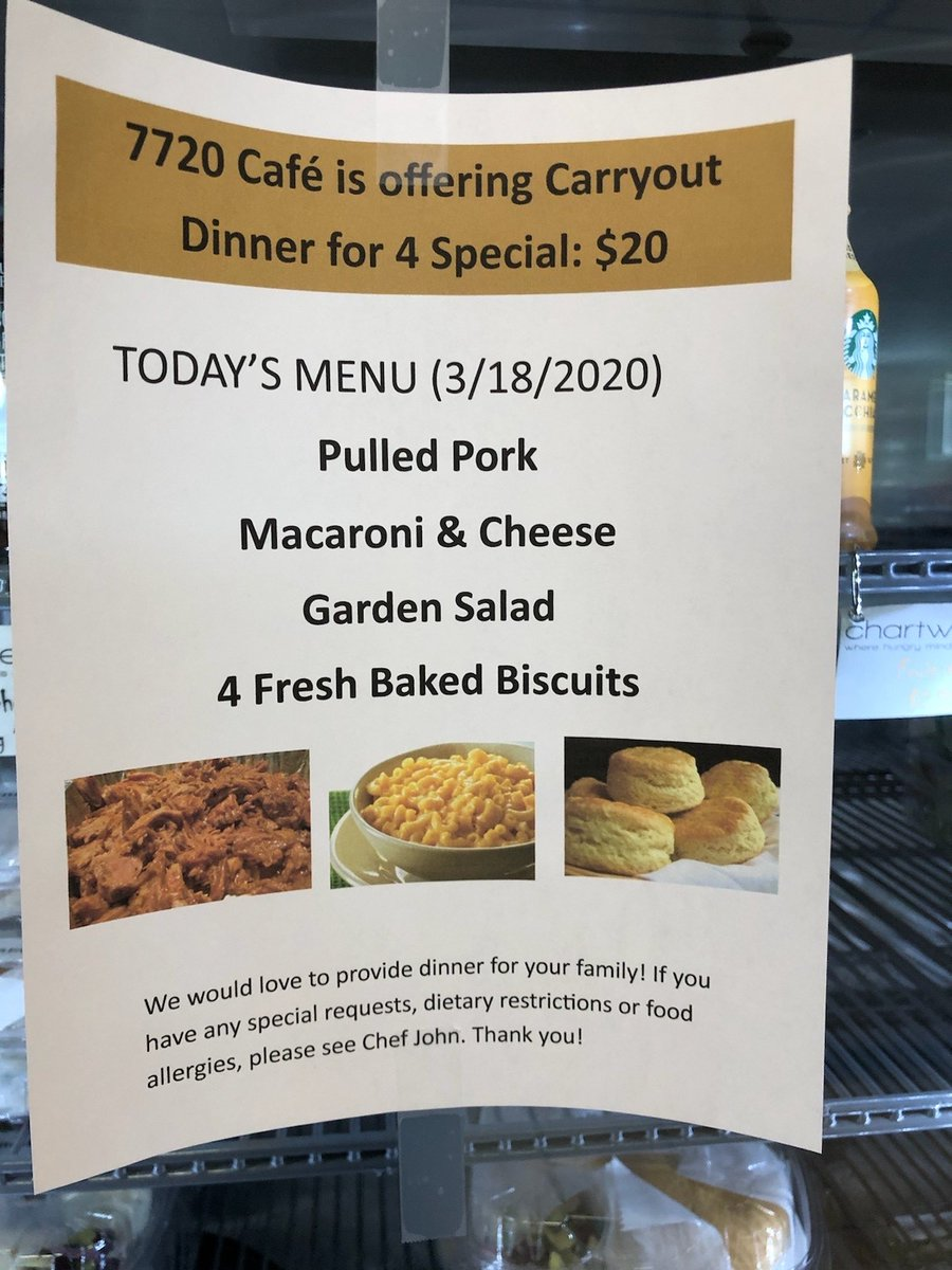 FYI, @TowsonDining is offering to-go and carry-out options and specials!
