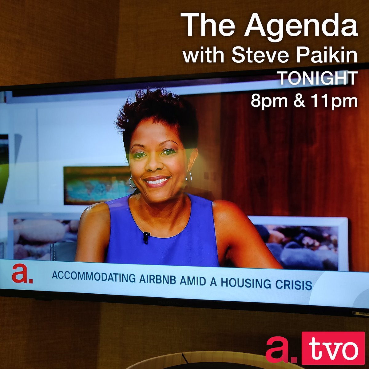 Tune into TVO's The Agenda with Steve Paikin tonight at 8pm and 11pm as I argue for AirBNB investing against 3 naysayers.  #TVO #TheAgenda #StevePaikin pic.twitter.com/iQS5dwf8y6