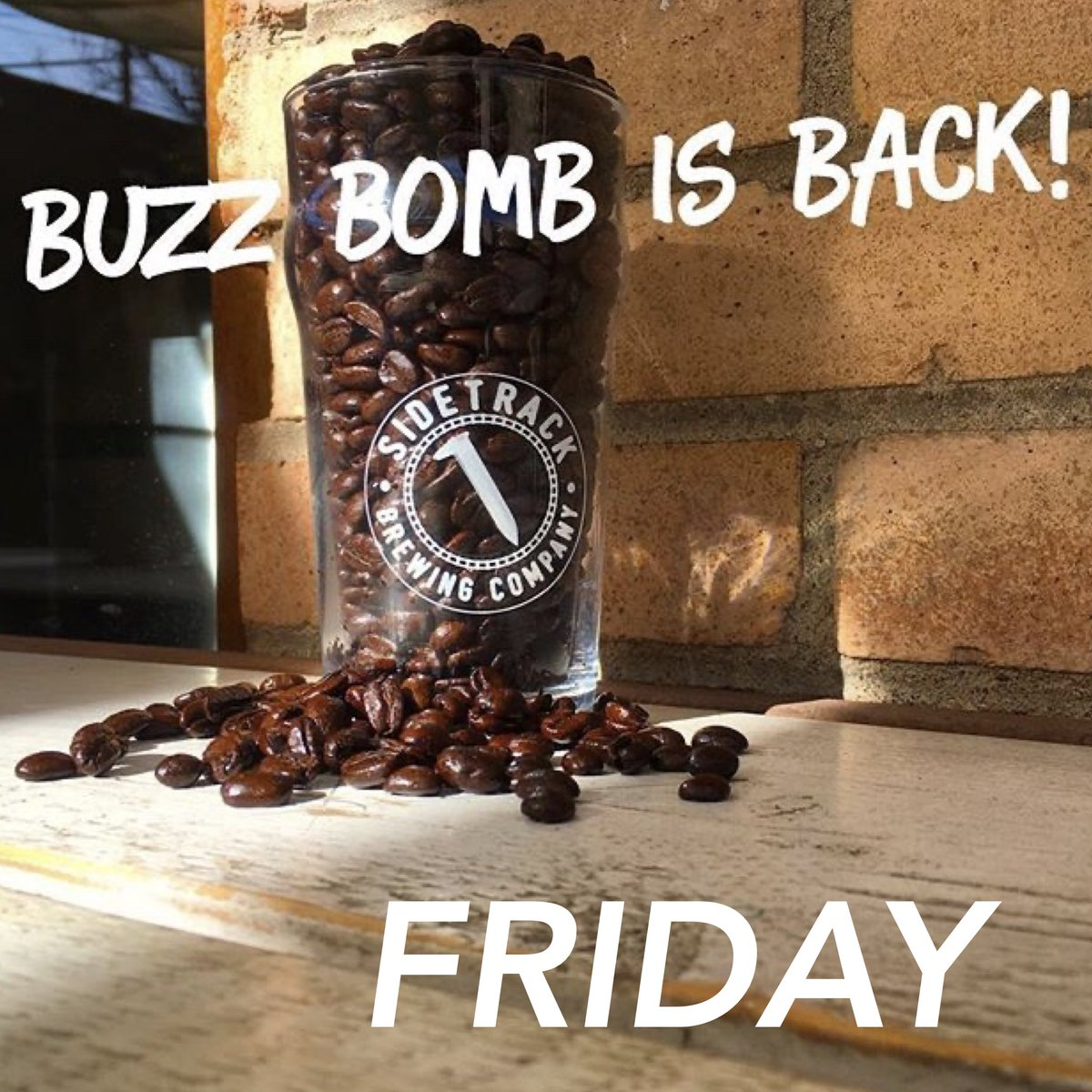 Friday BUZZ BOMB will return. Our coffee pale ale will be available for take home in Travel Cans and Growlers. #travelcan #getittogo #takeithome https://t.co/LHfiZkWR6Z