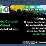 Image for the Tweet beginning: 🎧Agenda Cultural Virtual #QuédateEnCasa🎧CÓMICSCómics El