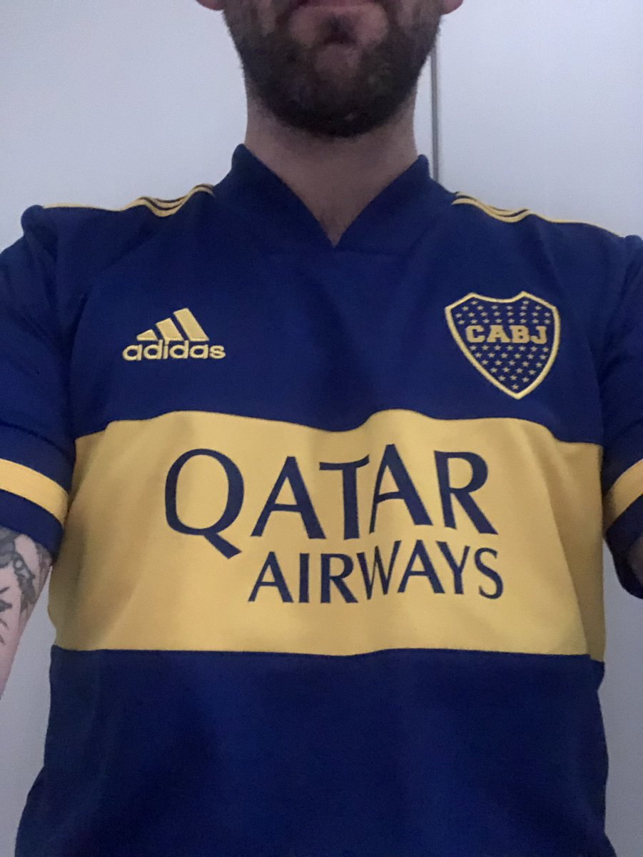 I knew collecting football shirts would pay off one day. Going wear a different jersey every day while I'm having to work from home. Day 1 (and Day 2): Boca Juniors, home, 2020/21.
