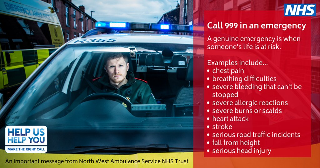 We are extremely busy with emergencies. An ambulance will only be sent to the sickest patients so please only call 999 in a life-threatening emergency.  Go to https://t.co/Q9820lk3SO for urgent medical advice or https://t.co/WZzE9L1m9G if you have a #coronavirus concern. https://t.co/SX2MeoruDk