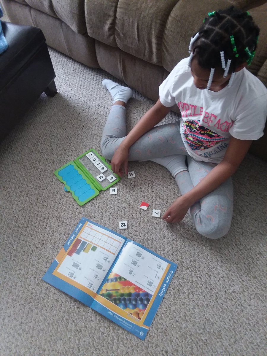 Math Versatiles lesson on place value models #WorkFromHome
