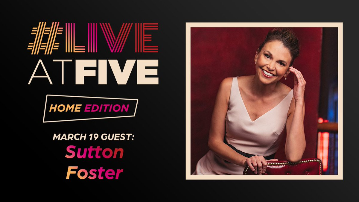 Our first #LiveAtFive HOME EDITION guest is....🥁🥁🥁....birthday girl @sfosternyc! 🥳 We'll see you tomorrow over on  AND