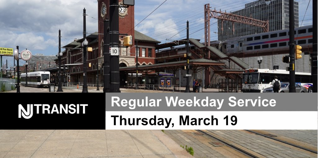 Nj Transit On Twitter March 19th Regular Weekday Service Will Operate And Is Not Impacted By The 8pm Covid19 Curfew Be Sure You Re Following Your Line Accounts Https T Co Qifhr1j7jb Https T Co M0mb8dsrqi