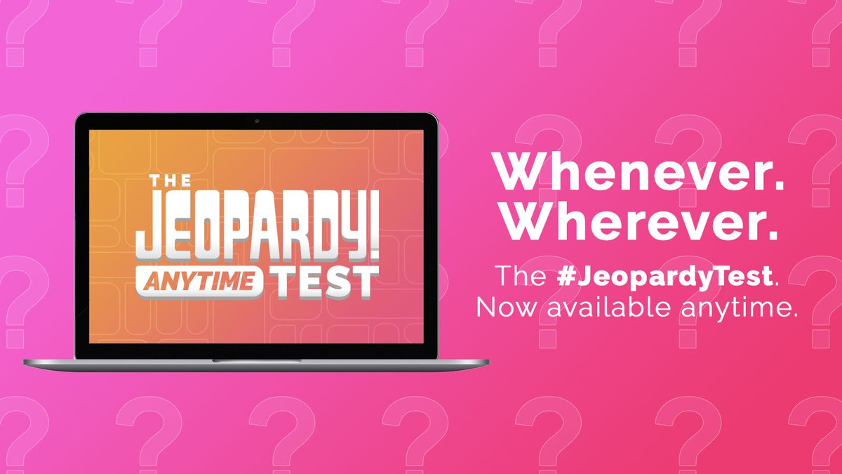 The #JeopardyTest is calling your name. Take it now! bit.ly/Jeopardy-Test