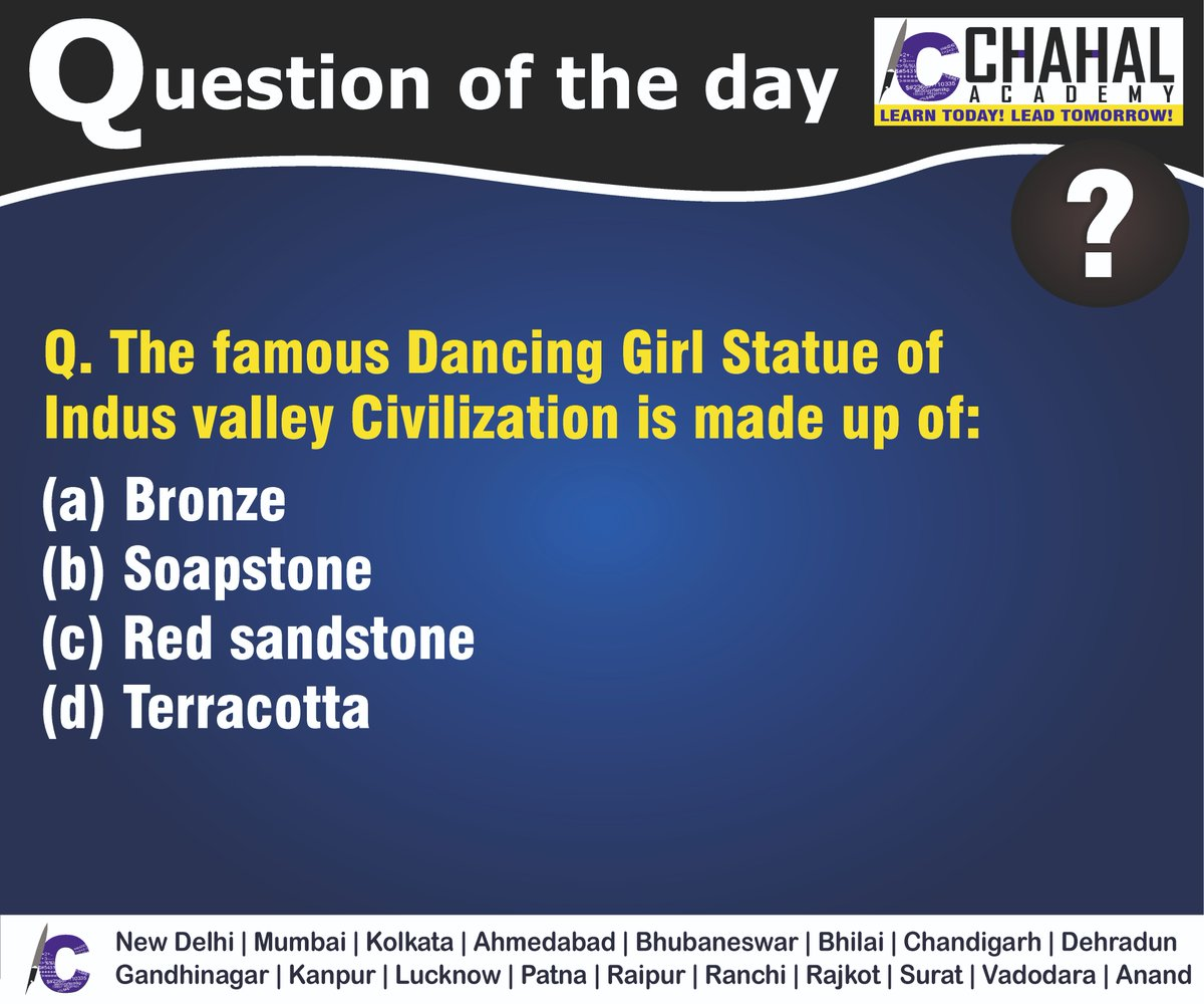 Question of the Day  Answer - A  #19thMarch2020 #Questionoftheday #UPSC2020 #IPS #IBPS #governmentexam #Currentaffairs #iasquestion #UPSCQuestion2020 #dailyquiz #coachinginstitute #iascoachingcenter #IASquestions #civilserviceexam  Visit:- http://chahalacademy.compic.twitter.com/CY3icwj97l