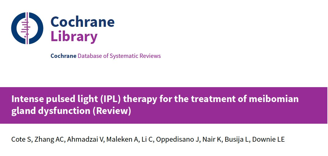 As some lighter content to our news feeds: very proud of my #DoctorOfOptometry students @UniMelbDOVS for publishing their first @CochraneEyes systematic review evaluating evidence for #IPL for #MGD #DryEye. #FrontTear lab. @cochranecollab @UniMelbMDHS  https://t.co/iAcBQ1KvKb https://t.co/uF1czgvuDh