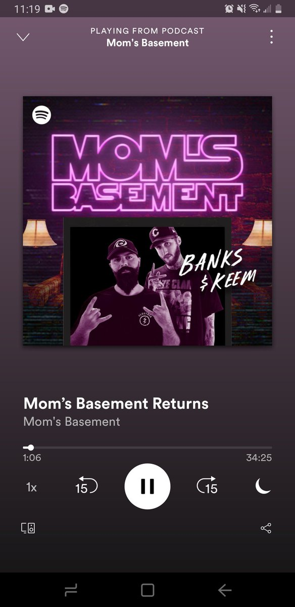 Finally got the chance to hear the podcast @Banks @KEEMSTAR