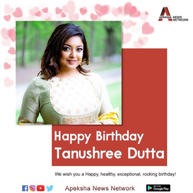 Wishing the actress Tanushree Dutta a very Happy Birthday.