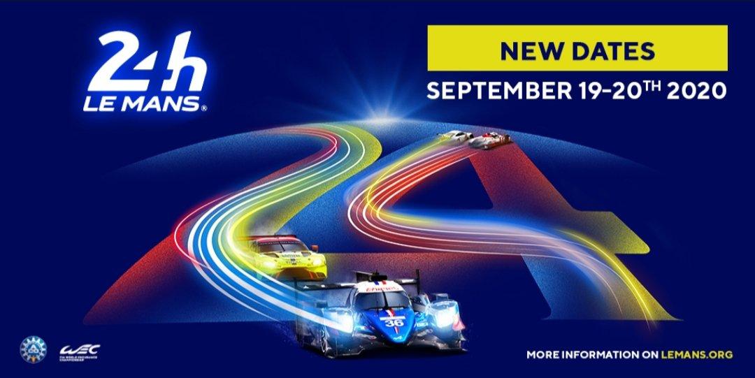 La edición 88 de las 24 Horas de Le Mans reprogramadas para el 19-20 de septiembre. #LeMans24 #fiawec #wec #lemans #classicrace #Legend #LeMans24H #sports https://t.co/P8MlHEBd40