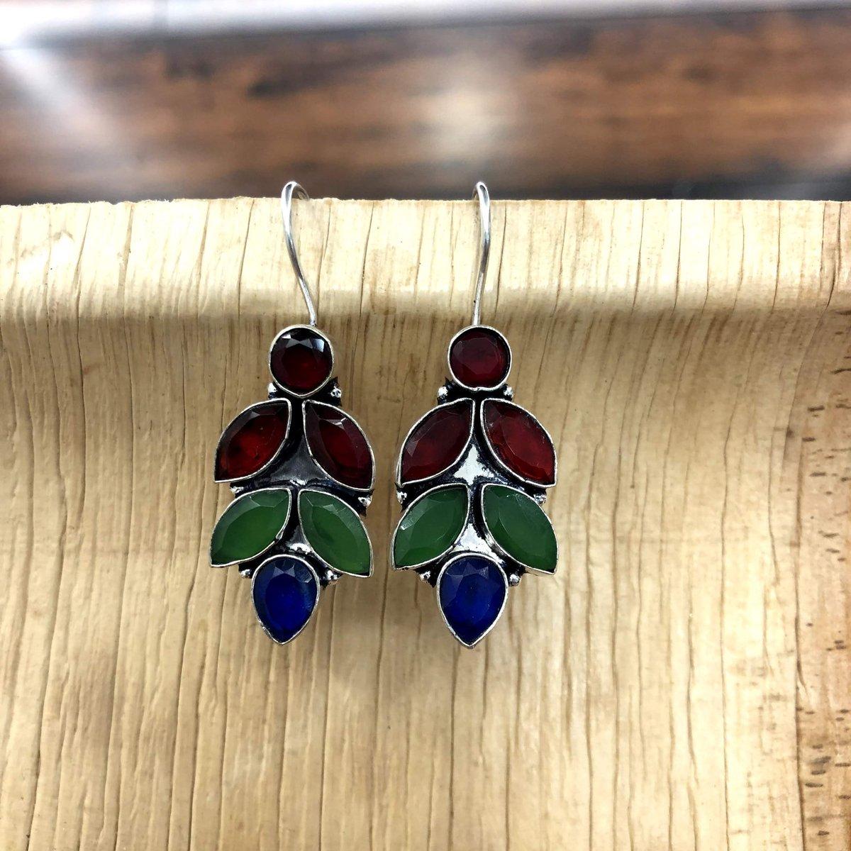 Oxidised Stone Drop Earrings  #fashion #accessories #jewellery #jewelry #oxidised #oxidisedjewellery #oxidisedearrings #stone #earrings #dropearrings #traditional #ethnic #indowestern #ethnicwear #shop #shopping #classic #modern #style #wearyourstyle #indianwear #ladieswearpic.twitter.com/adi0CMYtzf