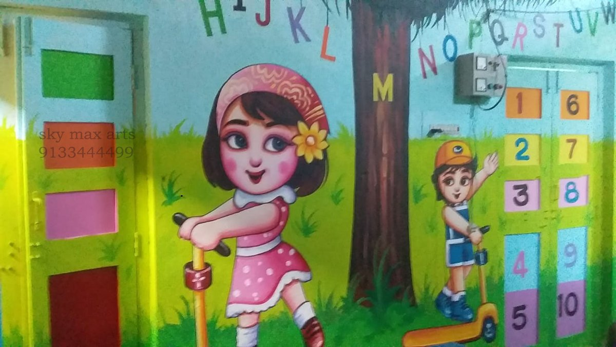 Sky Max Arts On Twitter Recently Completed Anganwadi School Boundary Wall Art Murals At Murmoor Https T Co Q7cqxs6dvh 919133444499 918008555554 Https T Co Wfhtpfz93a