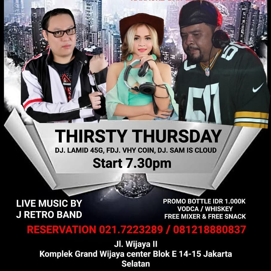 CHERRY BAR KARAOKE 🥃THIRSTY THURSDAY 🍻  RESERVATION CALL/WA : 081316885876   Alamat: Jl. Wijaya II komplek grand Wijaya center Blok E 14-15 Jakarta Selatan   #massage #party #event #eventjakarta #nextevent #kopdar #kongkow #hangout #clubbers  #nongkrongmurah