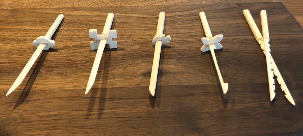 日輪 刀 作り方 割り箸