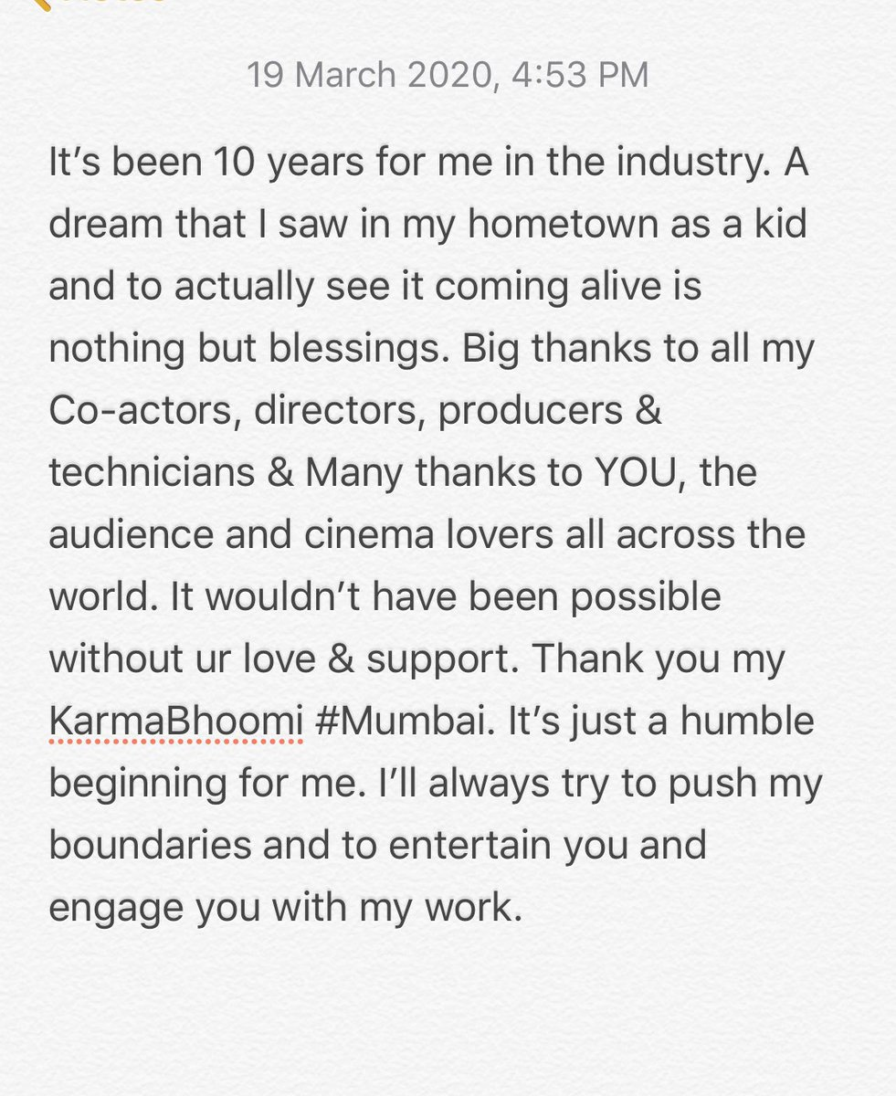 It's been 10 years for me in the industry. My heart is filled with gratitude 🙏😇❤️