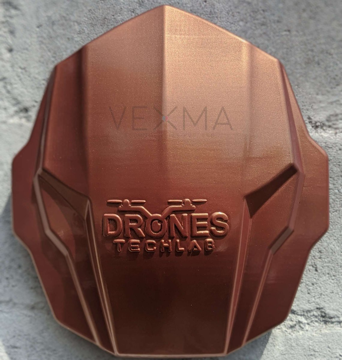 Check out the finished version after paint job for the previous post. We have in-house finishing services with a dedicated paint room to accomplish such kind of job work. P.s we feel our printer is great for automotive parts.  #3dprinted #drone #aerospace #dronepart #vexmatech