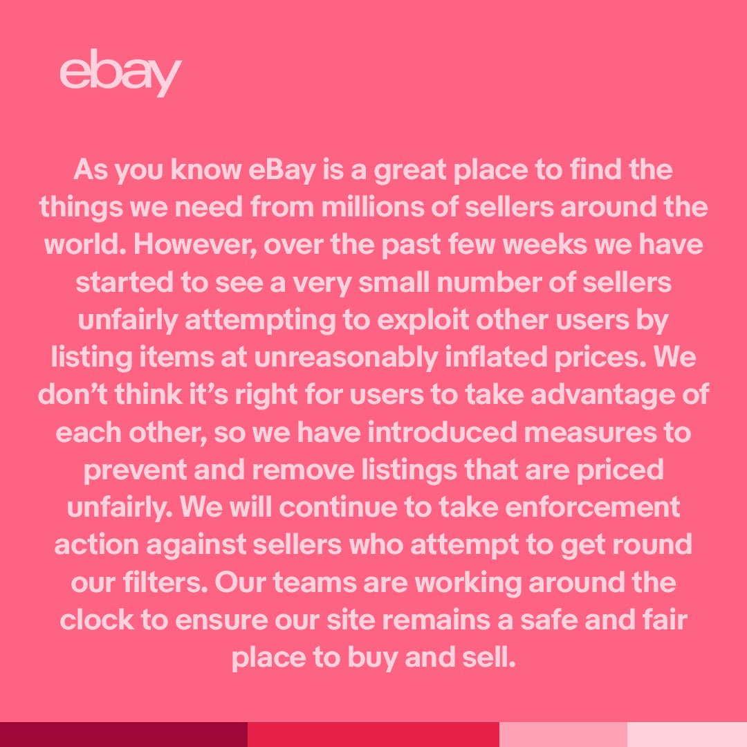 Ebay Uk News On Twitter A Note To All Of Our Customers