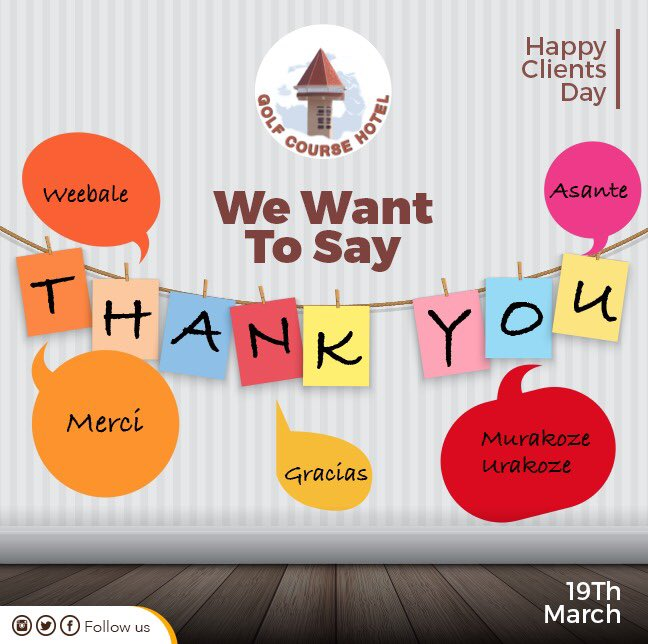 Dear clients, We Love You! ❤️  Thank you for being a part of our journey. You are our reason to celebrate today.  #ClientsDay #weappreciateyou #golfcoursehotel https://t.co/HL4L1durBf