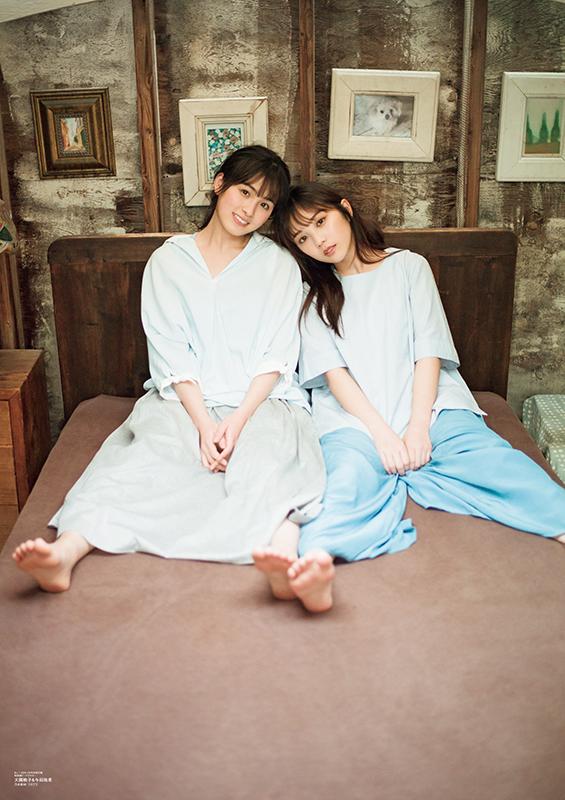 B.L.T.5月号乃木坂46大園桃子と与田祐希のグラビアツーショット2