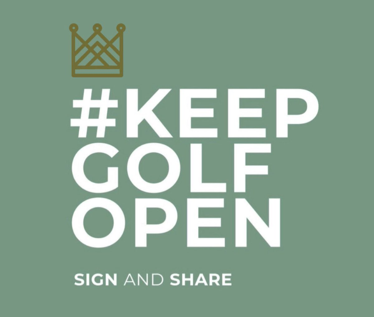 Whilst we all fully understand the very serious issues the Coronavirus is presenting to the world; The UK Golf Federation want the Governments support to keep golf courses open through the term of COVID19. #KeepGolfOpen. Please sign and share : change.org/keepgolfopen