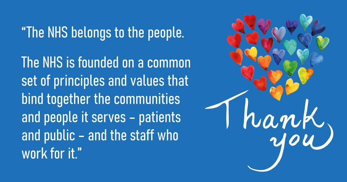 Thank you to all our wonderful colleagues working so hard to provide everyone with the best possible care at such a challenging time 💙