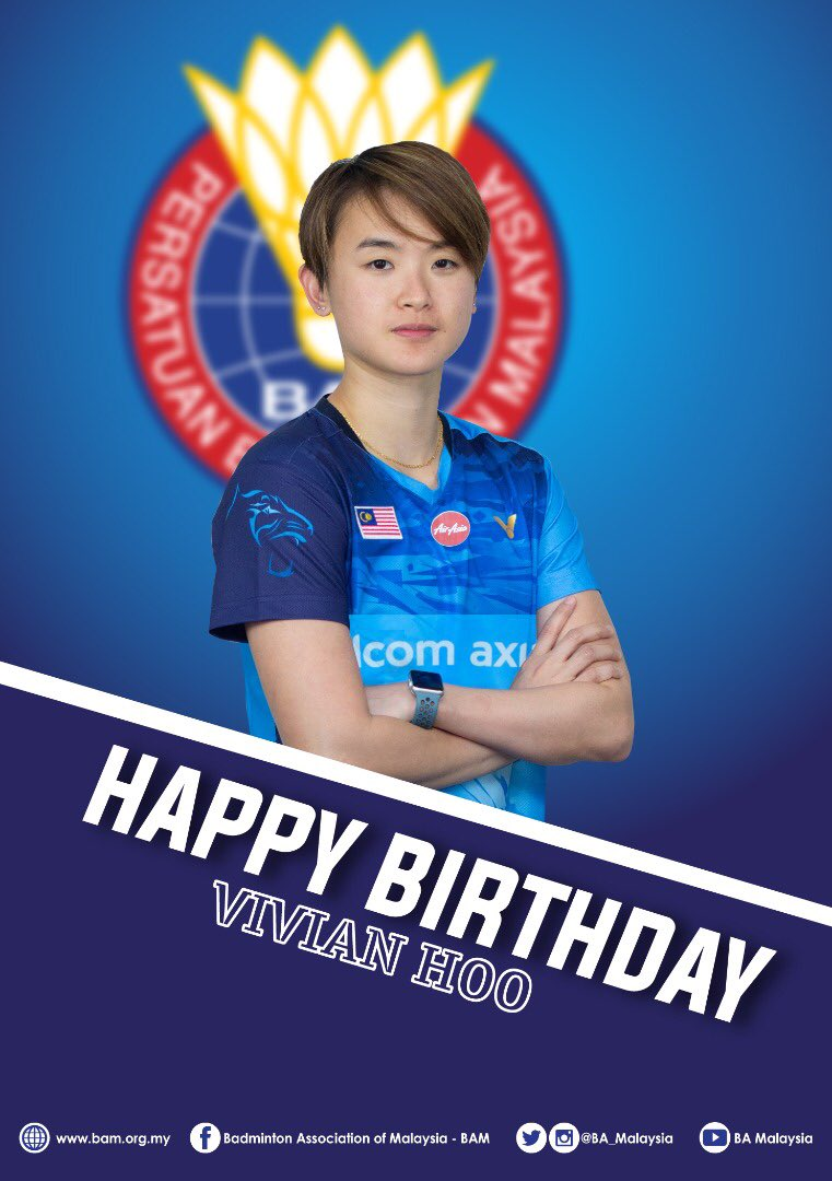 #HBD to Vivian!   #BadmintonMalaysia #BadmintonLovers pic.twitter.com/h9uNk7a4wS