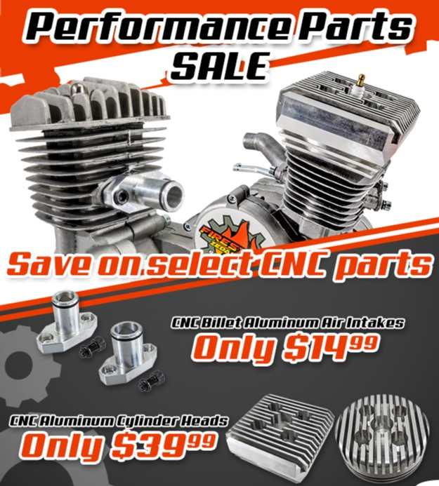 ON SALE NOW!  With everything going on, we thought we'd cheer everyone up with a a little CNC sale! Now through the 30th, Intakes are only $14.99 and Heads are Only $39.99  Spruce up that bike and get it ready to ride!    #cnc #cncparts #motorizedbike