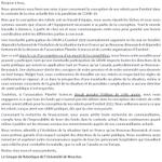 Image for the Tweet beginning: Notre déclaration concernant #Eurobot. Nous
