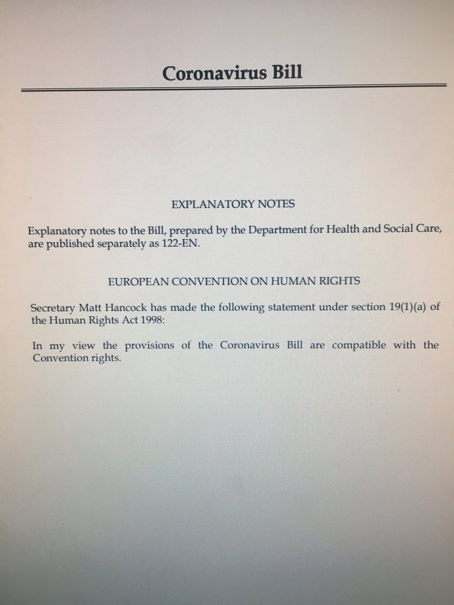 It's a whopper. The Covid 19 Emergency Bill. 321 pages.