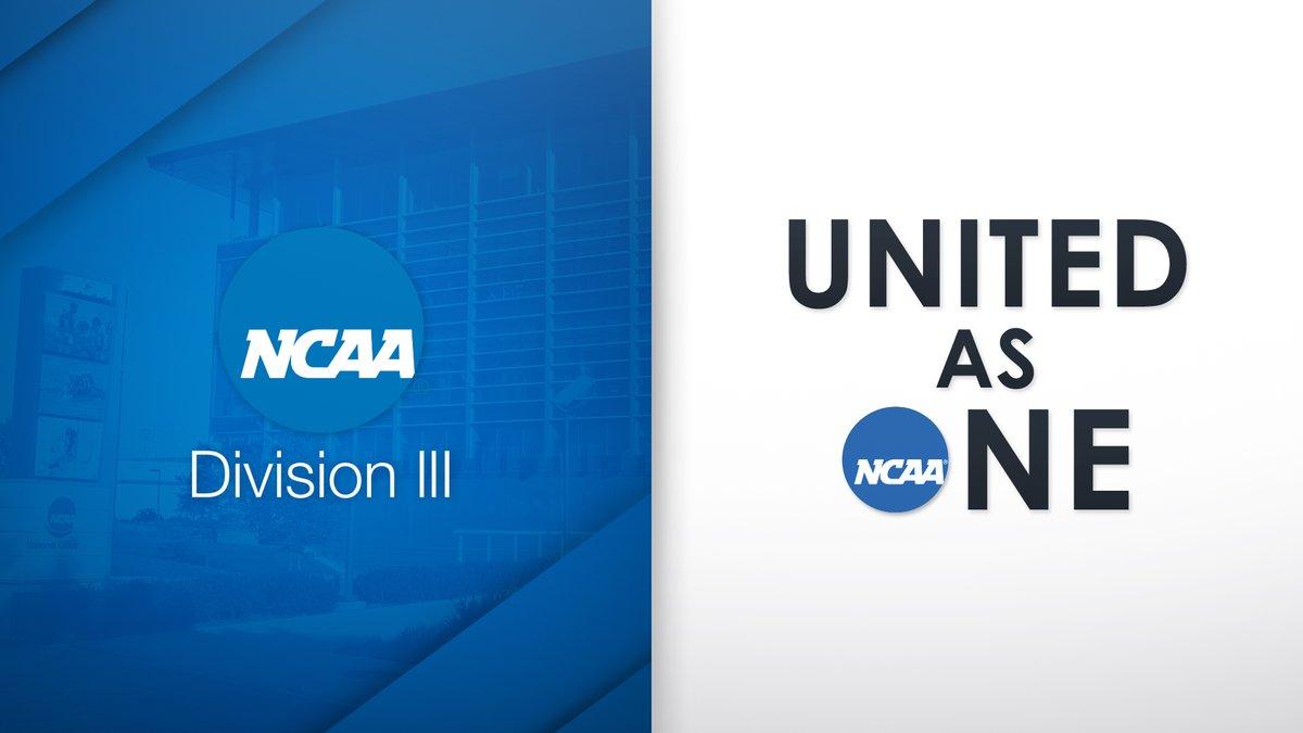 Division III joins Division I and II in being #UnitedAsOne. on.ncaa.com/unitedasone