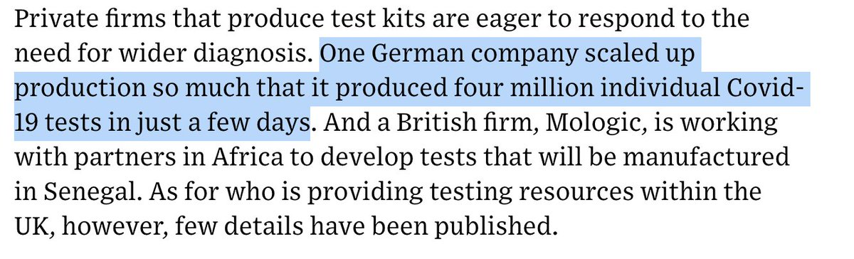 I have worked with a number of AWS customers in the past days that are innovating COVID-19 testing and are running production lines that are turning out 100K+ of test kits. The million number in the @wired artcile is not an exception.  https://t.co/frmPV1DErX https://t.co/535JU5fXDn