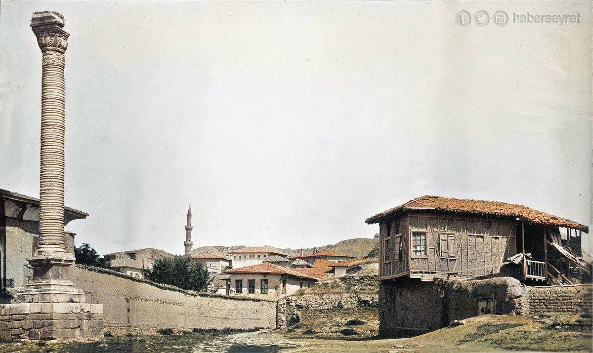 Jülian sütunu ya da Belkıs Minaresi Ankara'nın Altındağ ilçesinin Ulus semtinde bulunur. Sütün 362 yılında Roma İmparatoru Julian'ın Ankara'ya ziyareti onuruna karşılık dikilmiştir. 15 metre yüksekliktedir ve kendine özgü bir mimari yapıdır.  1881 https://t.co/V3JUC3oYP2