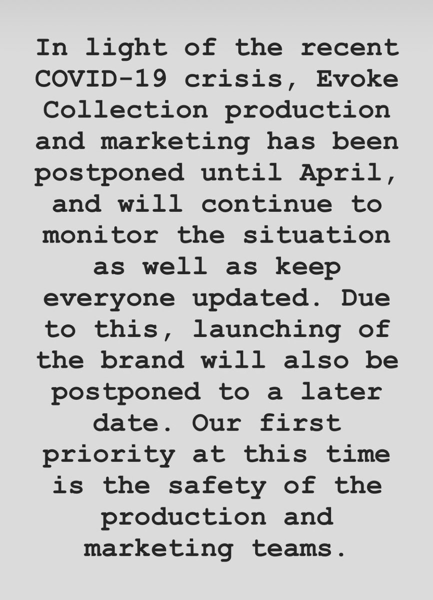 Update on our launch. Everyone please stay safe, wash your hands, and practice kindness during this time.pic.twitter.com/mH6BUNQsiF