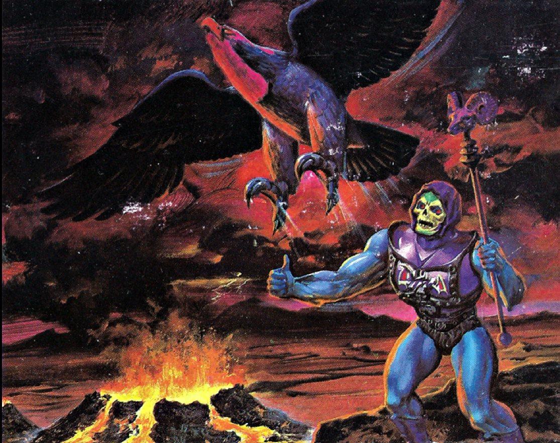 #BattleArmorSkeletor & #Screeech box art, artist unknown, 1984. #MOTU