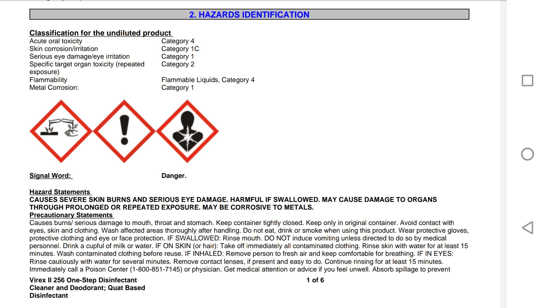 Dj Tim Kai On Twitter I Looked For And Found The Safety Sheet For Virex Ii 256 The Cleaning Agent Mentioned In The Article It Shares Ingredients With Scrubbing Bubbles Lysol