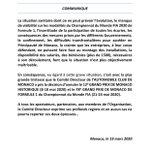 Image for the Tweet beginning: 🚨 Communiqué / Press Release