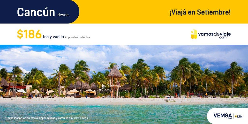 ¡Aprovecha estas increíbles tarifas para vuelos en Septiembre 2020! Cuídate hoy para que puedas viajar mañana. Cancún desde $186. #YoViajoDespues  https://t.co/PQpJaUnpW5 https://t.co/R59xImOHrR