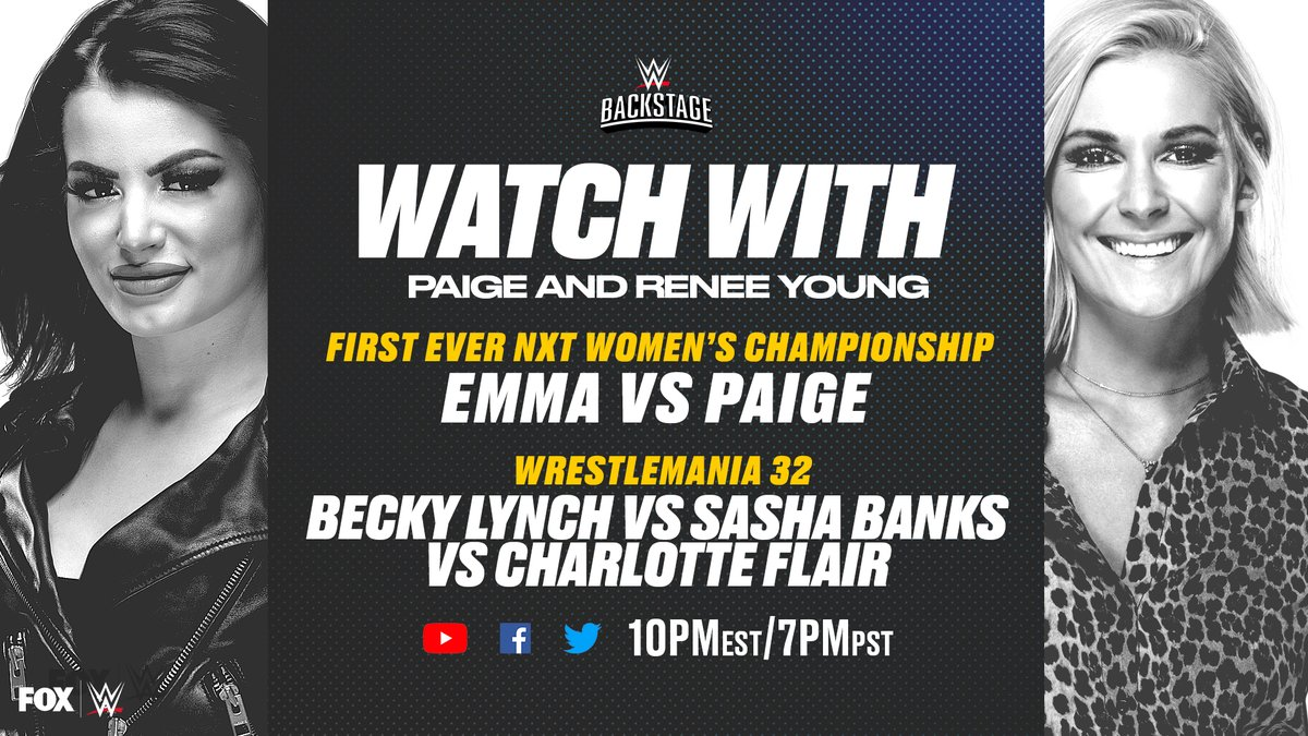"WWE Announces Special ""Watch With"" Edition Of Backstage With Renee Young And Paige"