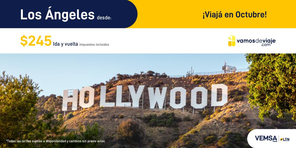 ¡Aprovecha estas increíbles tarifas para vuelos en Octubre 2020! Cuídate hoy para que puedas viajar mañana. Los Angeles desde $245. #YoViajoDespues  https://t.co/8CCEn4tfis https://t.co/0rSYbumpYf