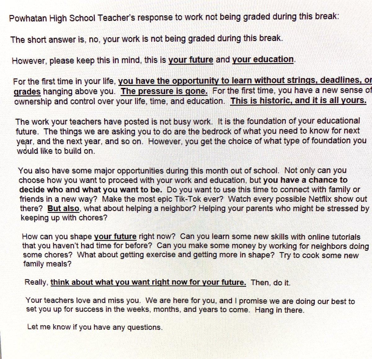 This @PowhatanHS teacher gets it! ❤️🖤🧡