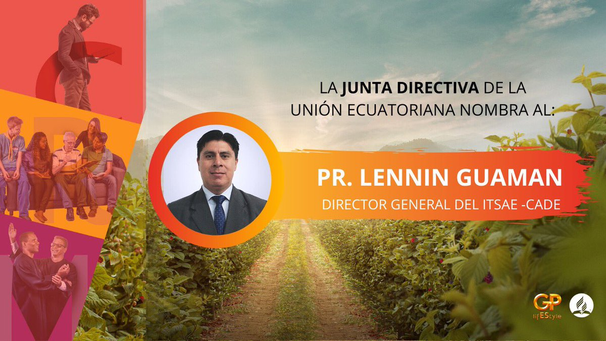 📍 #Último La #JuntaDirectiva de la Unión Ecuatoriana nombra hoy jueves 19 de Marzo, al @PrLenninGuaman como Director General del ITSAE- CADE. @InstitutoItsae  🙏#Oremos por esta responsabilidad y el ministerio del Pastor. https://t.co/uL8xbgh2bZ