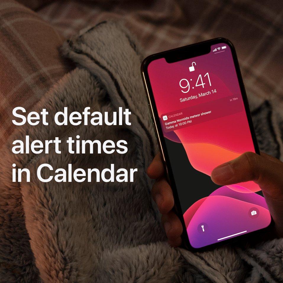 Set default alert times in Calendar